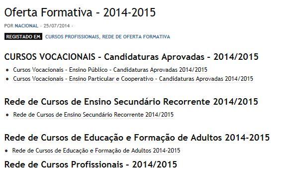 Oferta Formativa 2014/2015
